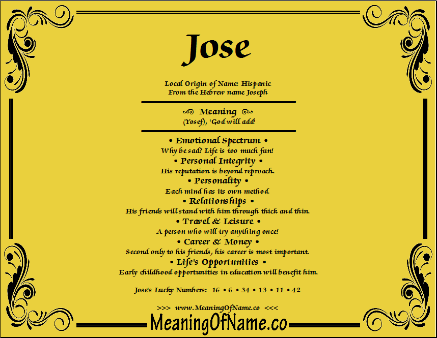 jose meaning of name