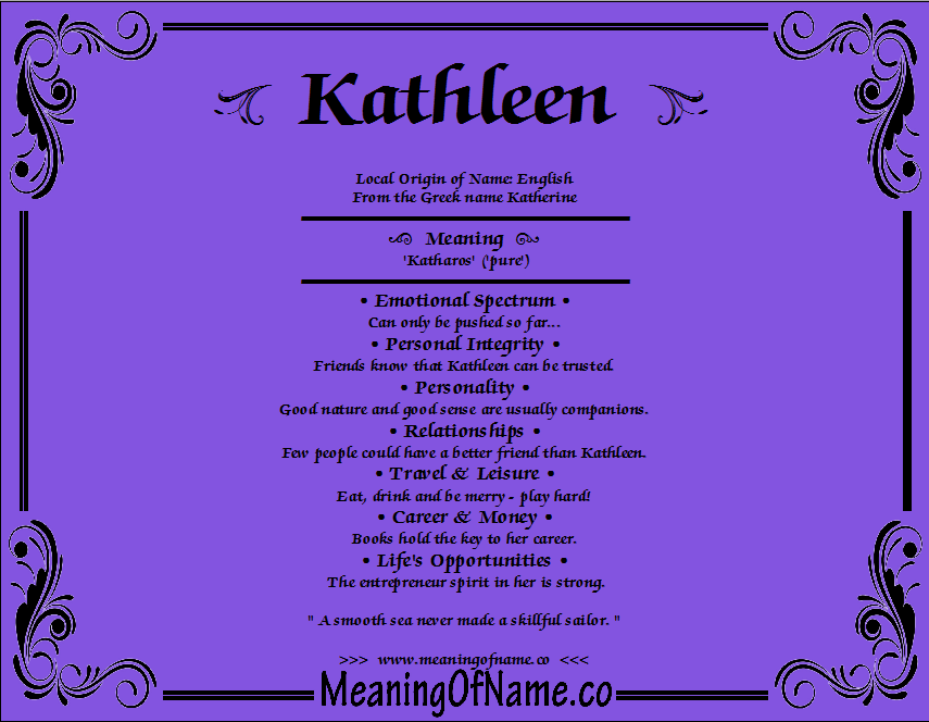 Kathleen - Meaning of Name