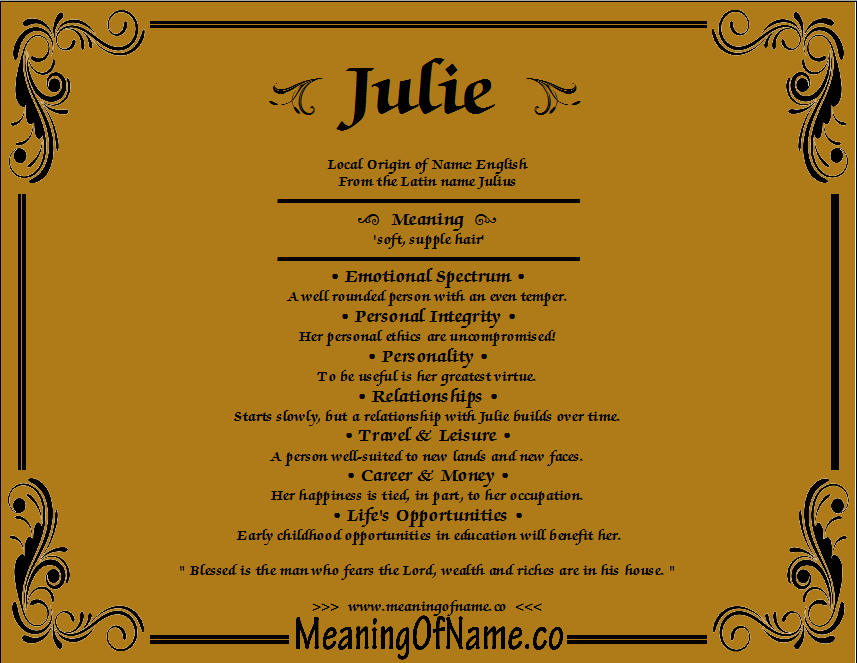 Julie - Meaning of Name