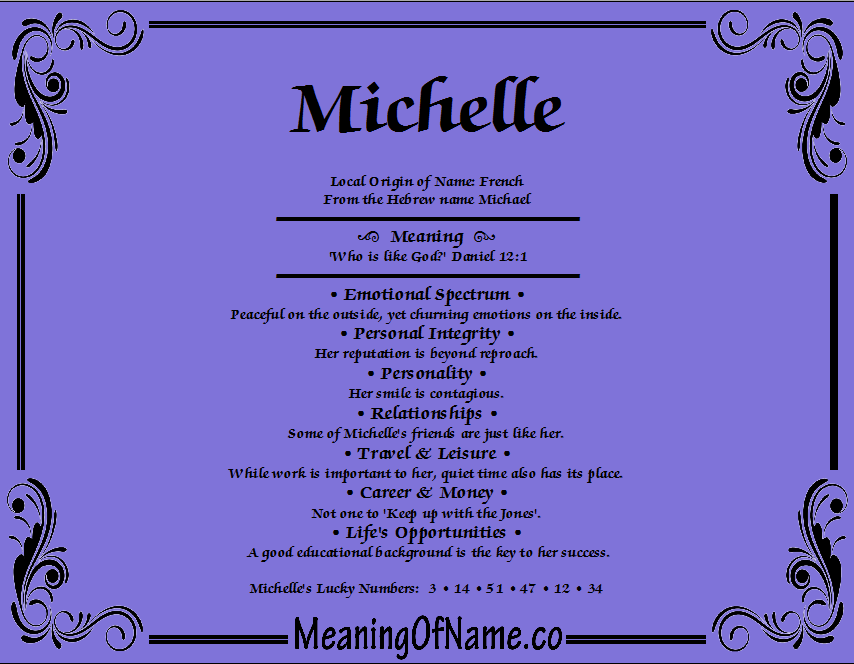 Michelle - Meaning of Name