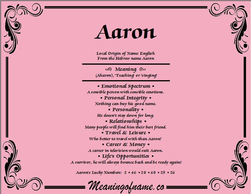Bedeutung Aaron