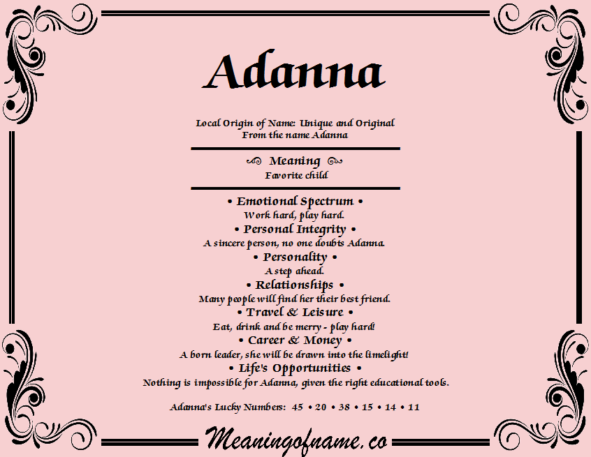 Adanna - Meaning of Name