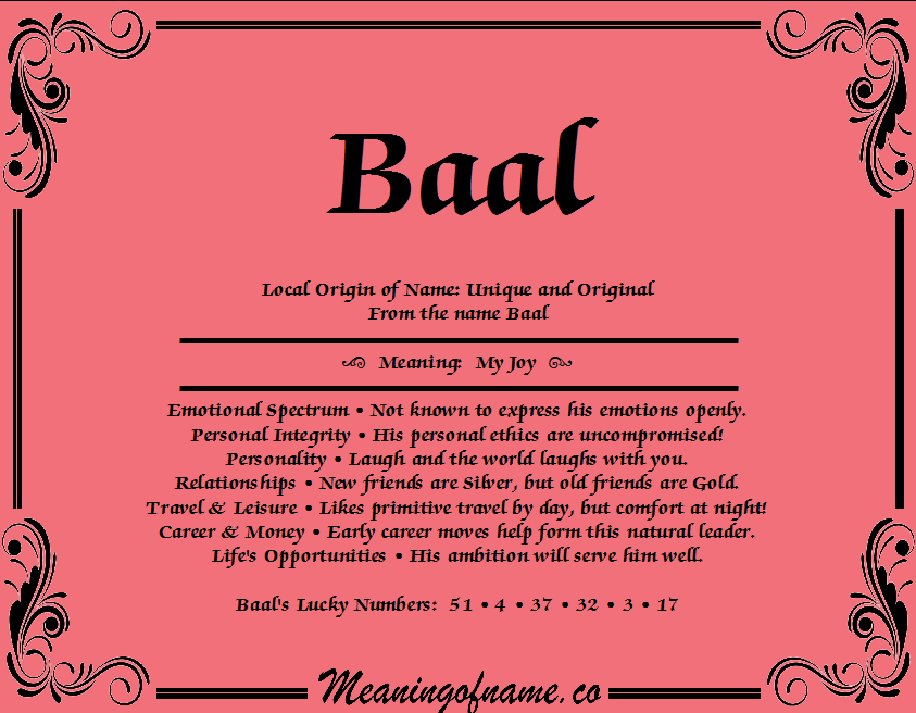 Meaning of Name Baal