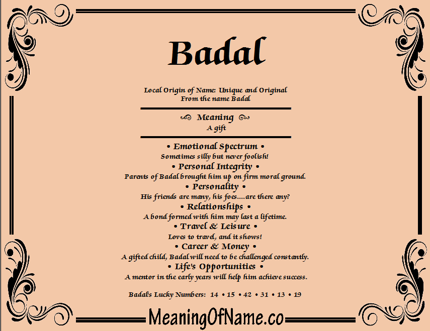 Badal meaning of name meaning of name badal negle Gallery