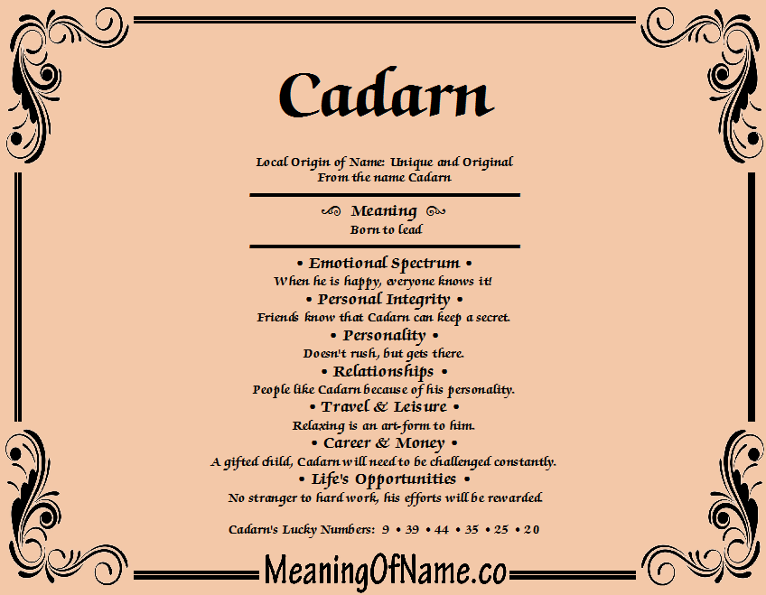 Meaning of Name Cadam