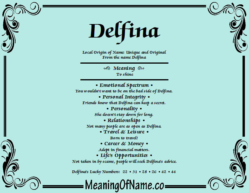 Delfina - Meaning of Name