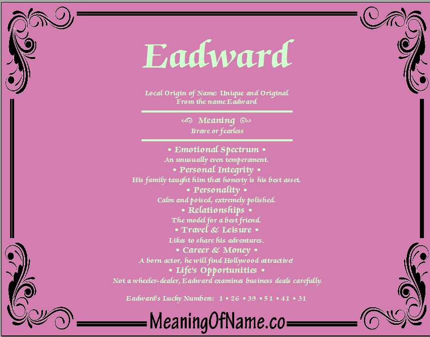 Meaning of Name Eadward
