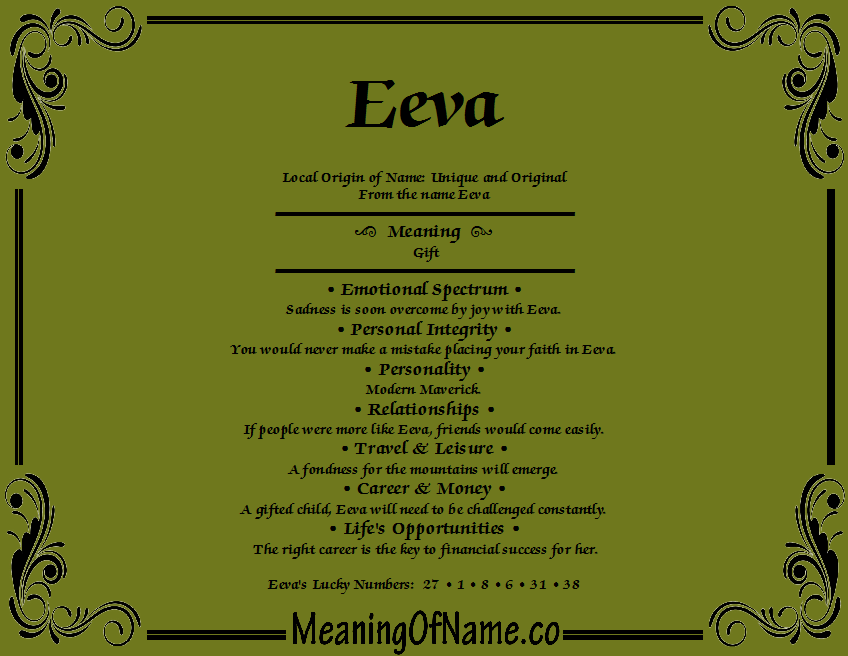 Meaning of Name Eeva