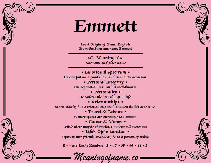 23+ Name meaning emmett information