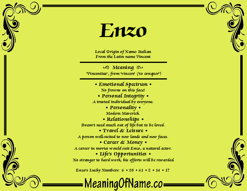 Enzo - Meaning of Name