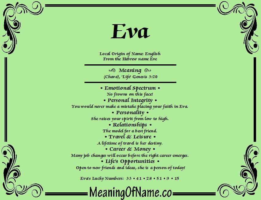Eva - Meaning of Name