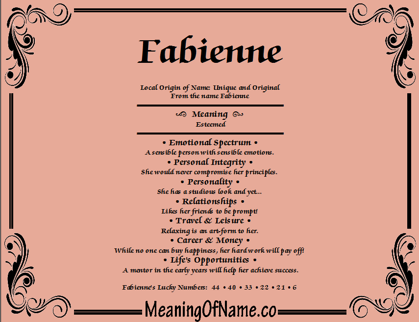 Meaning of Name Fabienne