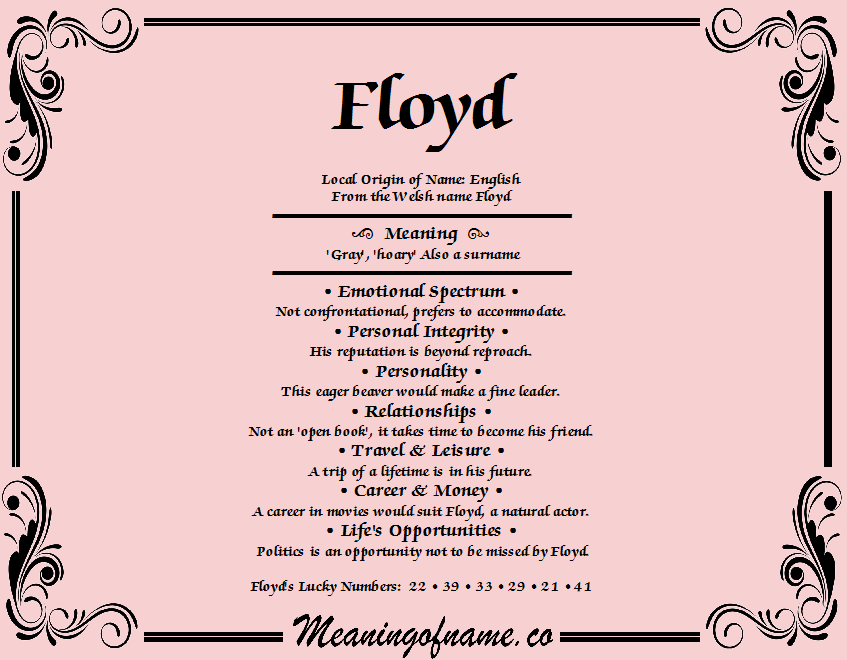 Floyd meaning of name meaning of name floyd stopboris Gallery