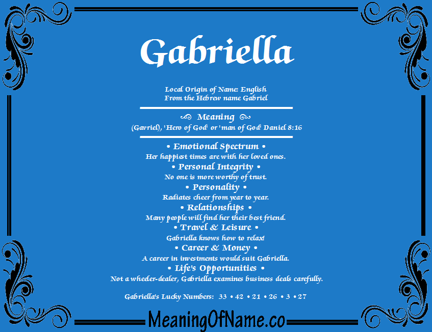gabriella meaning of name