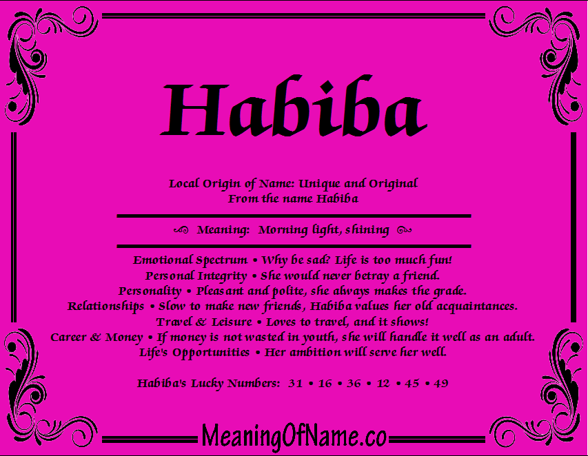 Meaning of Name Habiba