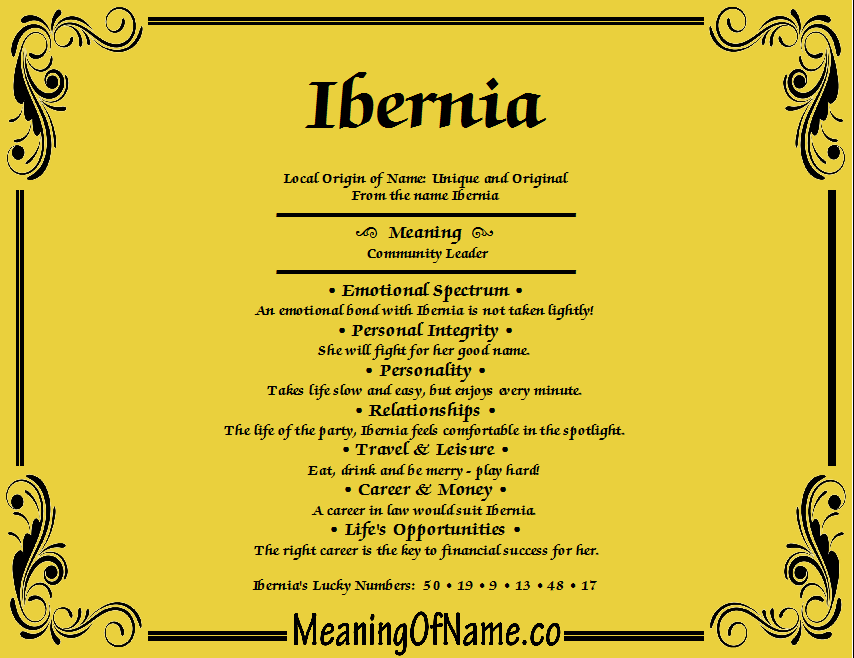 Meaning of Name Ibemia