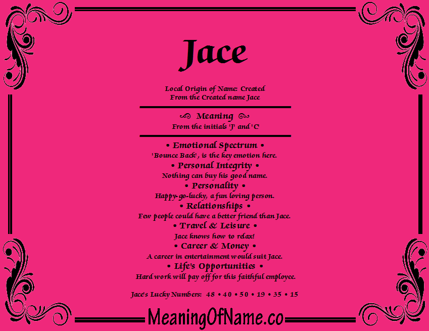 Meaning of Name Jace