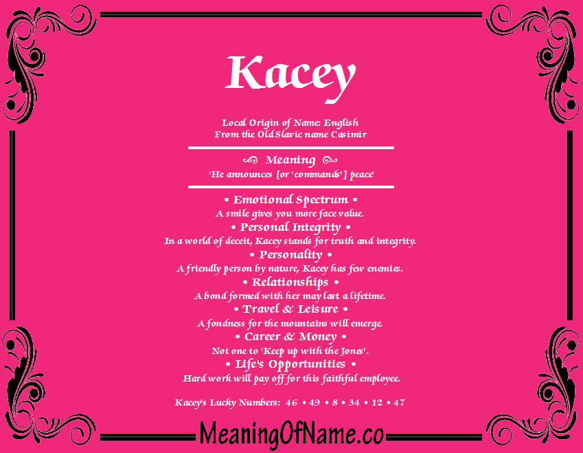 Meaning of Name Kacey