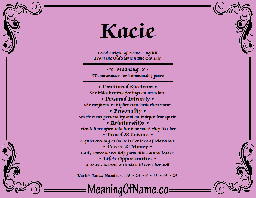 Meaning of Name Kacie