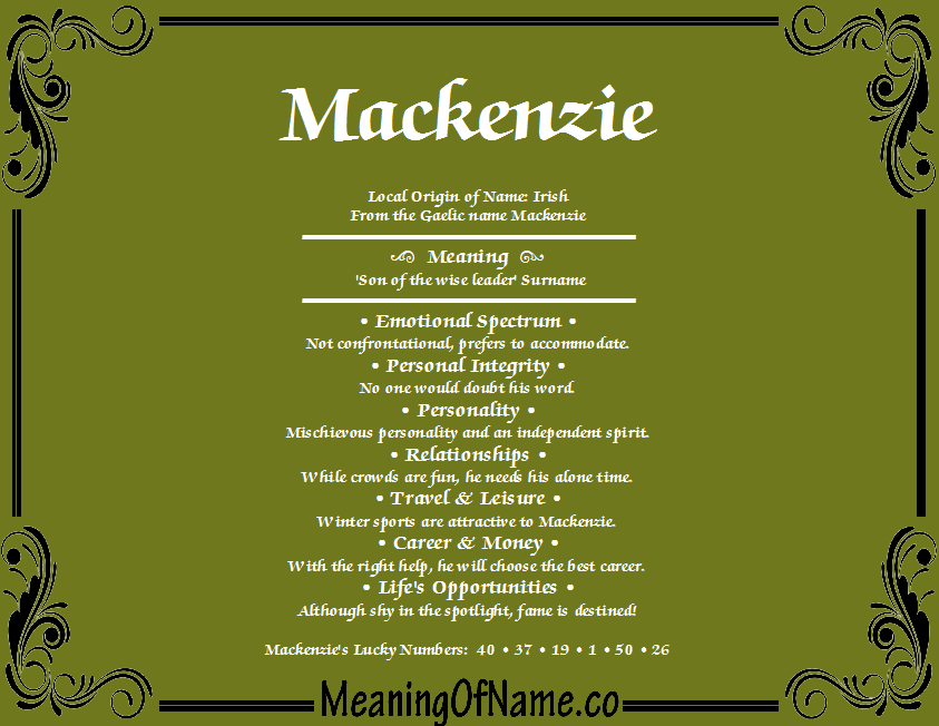Mackenzie (surname)