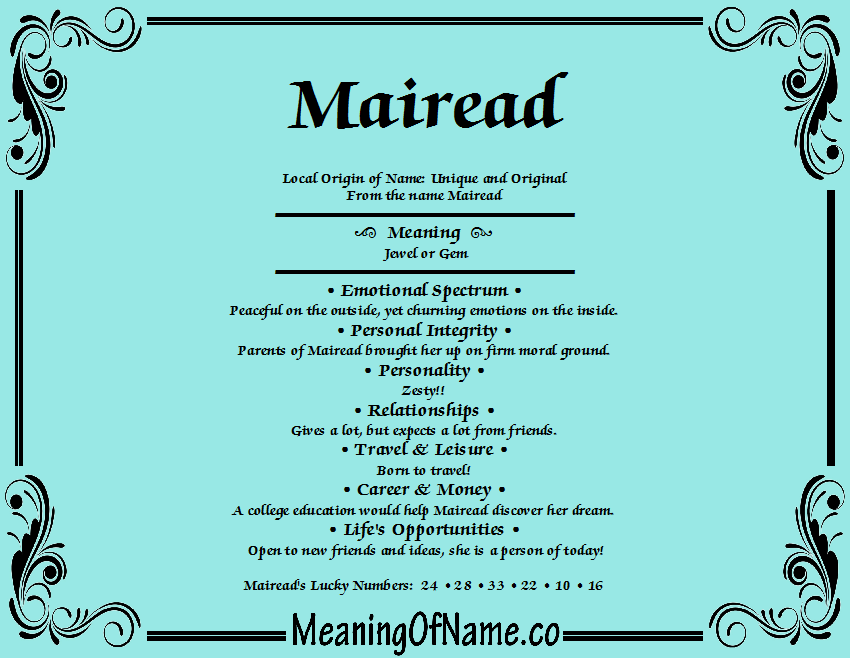 Mairead meaning of name meaning of name mairead stopboris Gallery