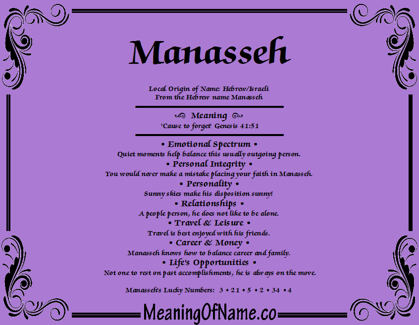 Meaning of Name Manasseh