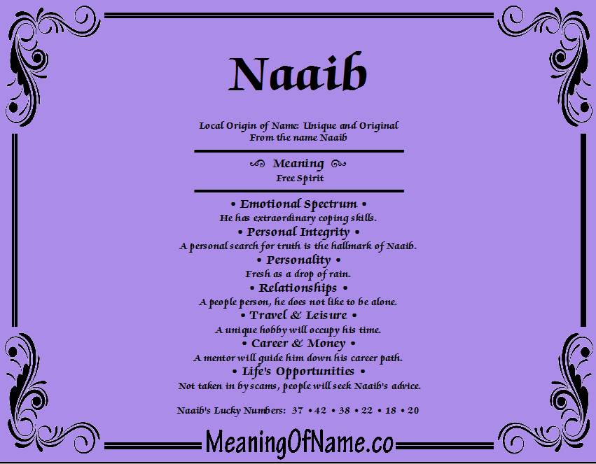Meaning of Name Naaib