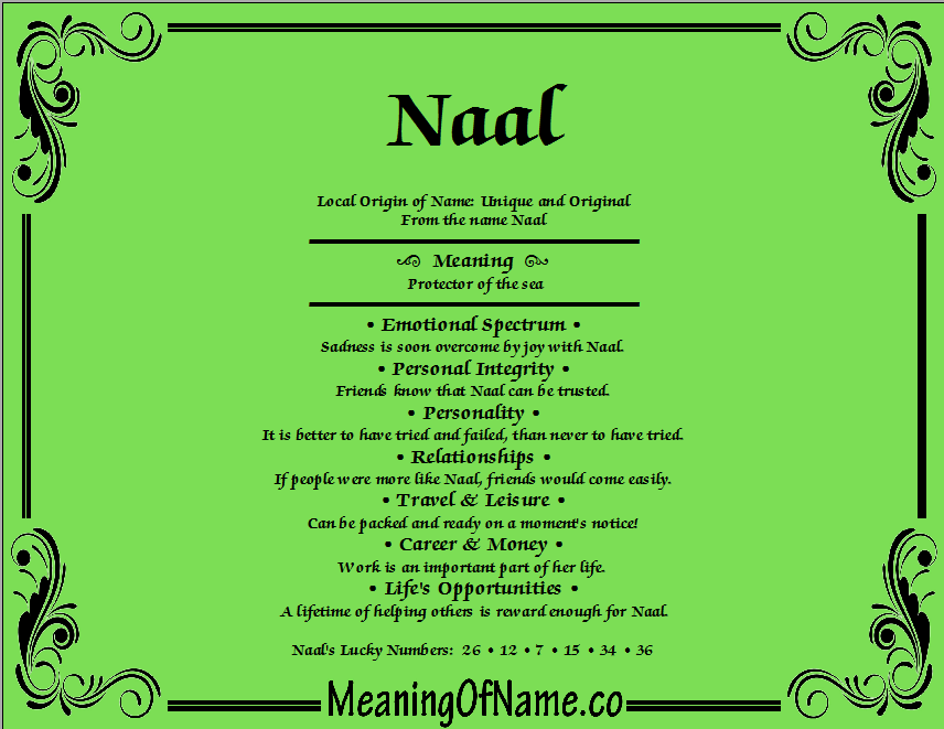 Meaning of Name Naal