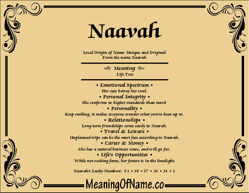 Meaning of Name Naavah