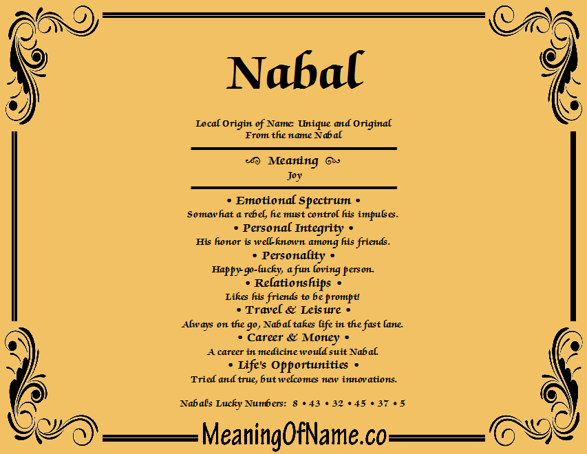 Meaning of Name Nabal