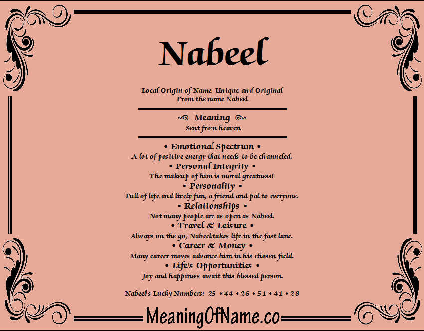 Meaning of Name Nabeel