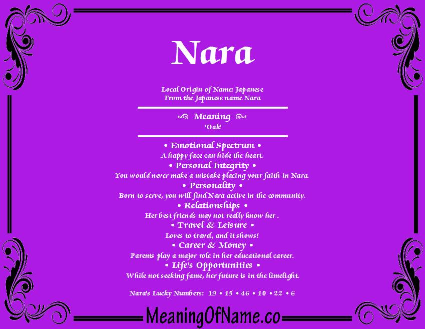 Nara meaning of name meaning of name nara stopboris Choice Image