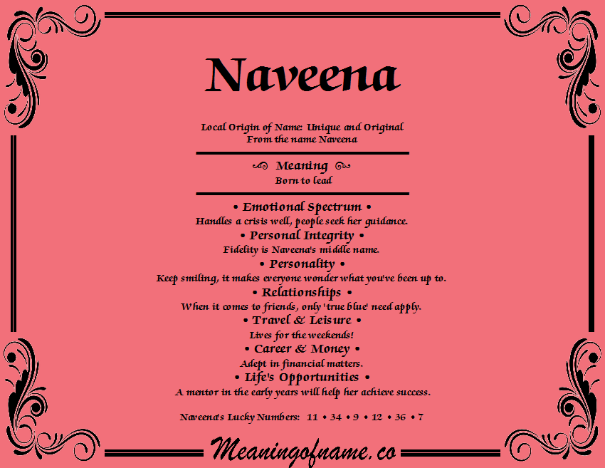 Meaning of Name Naveena