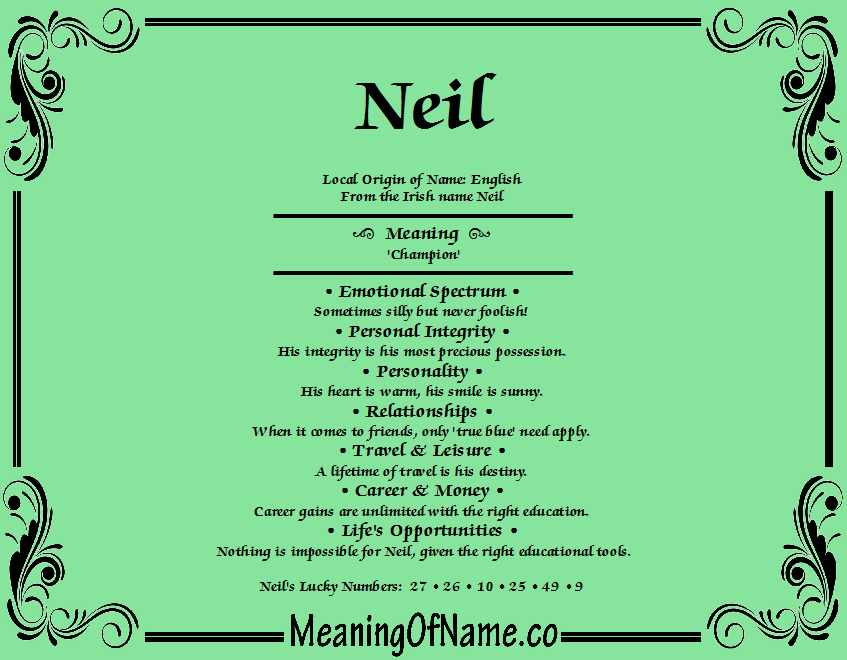 Meaning of Name Neil