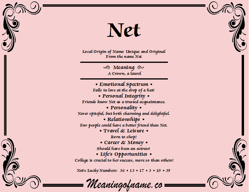 Meaning of Name Net
