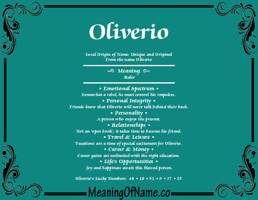 Meaning of Name Oliverio