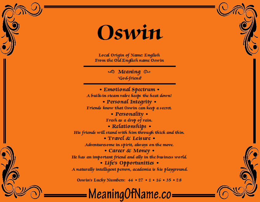 Oswin - Meaning of Name