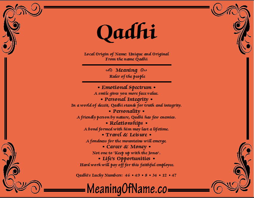 Meaning of Name Qadhi
