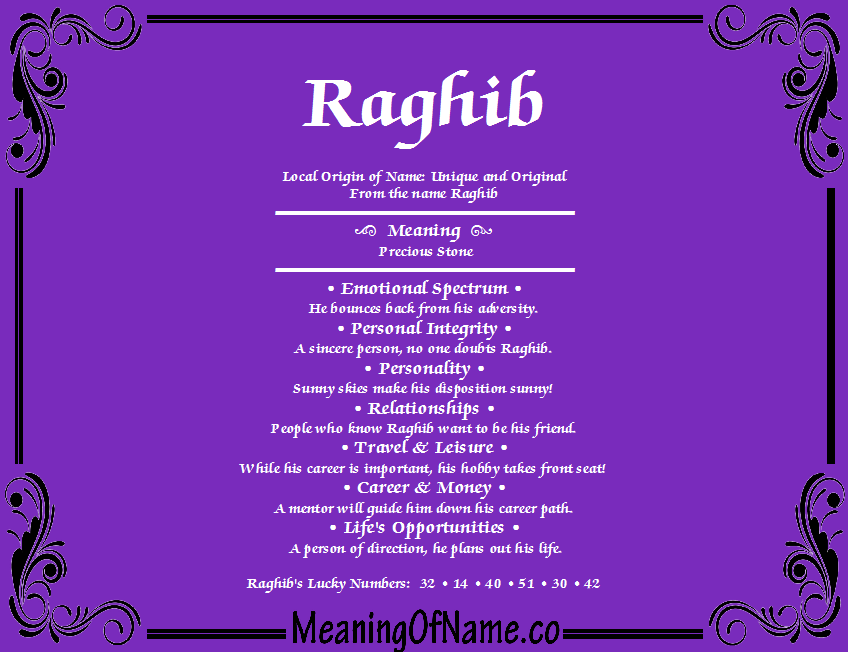 raghib name