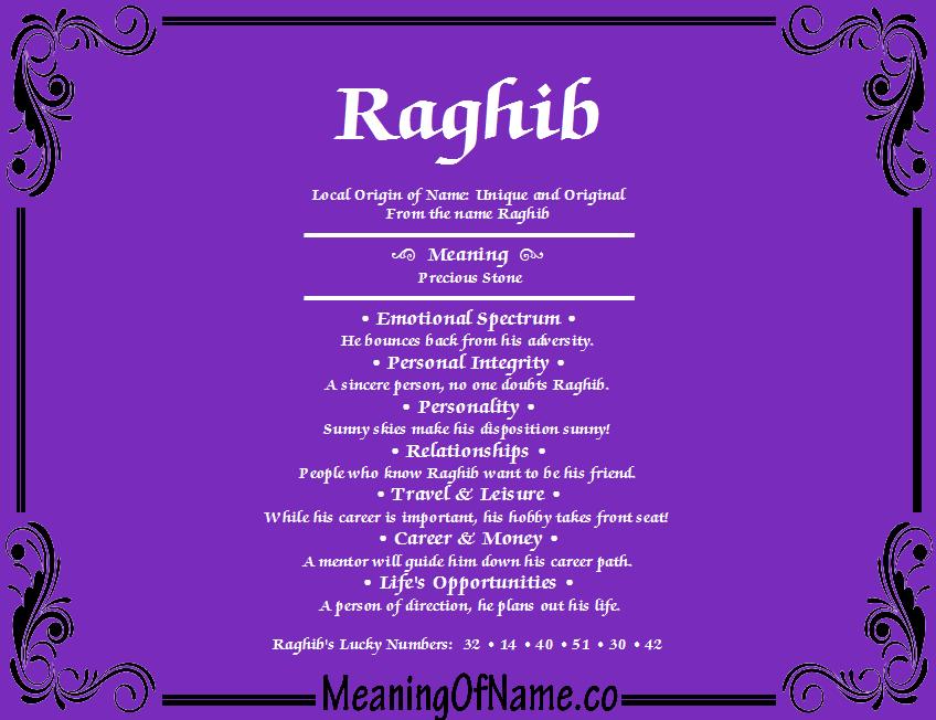 raghib name