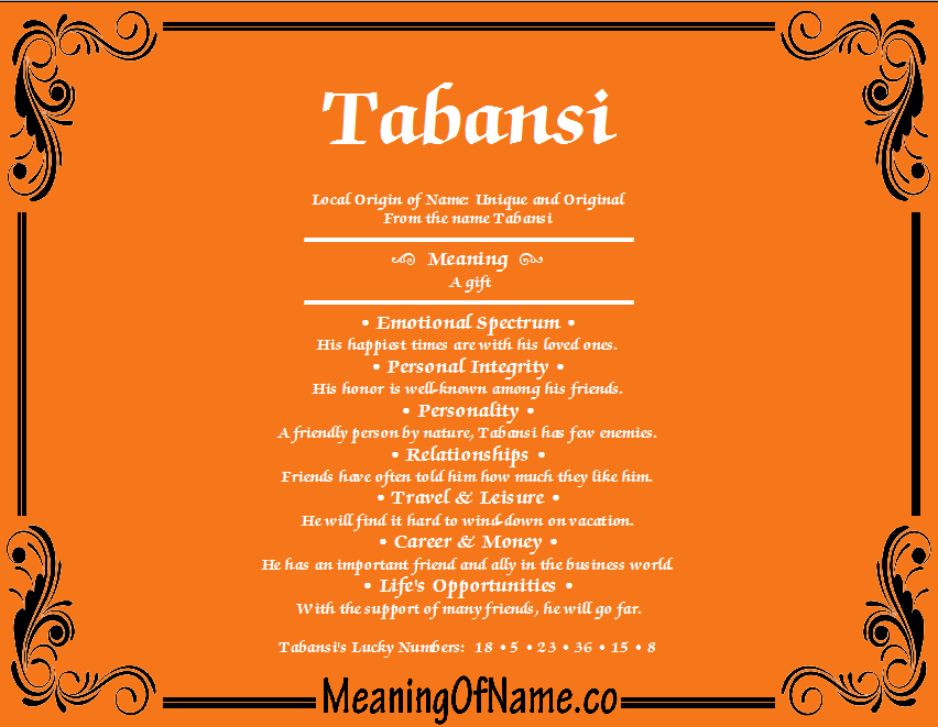 Meaning of Name Tabansi