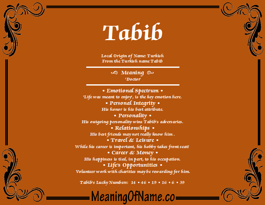 Meaning of Name Tabib