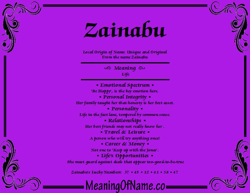 Zainabu