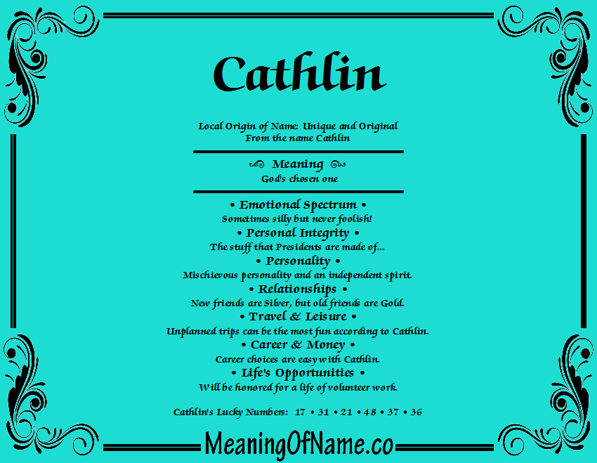 Meaning of Name Cathlin