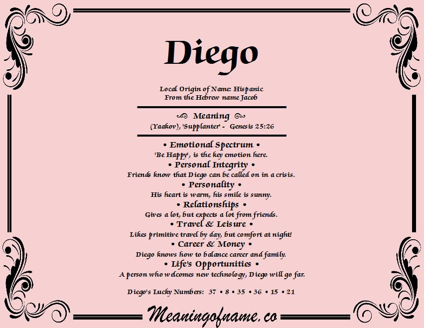 Diego name
