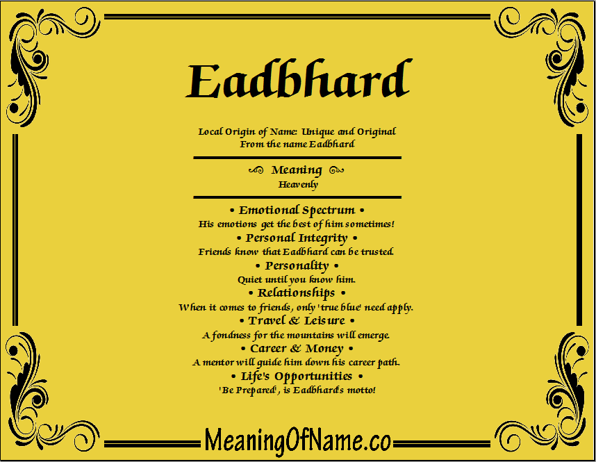 Meaning of Name Eadbhard