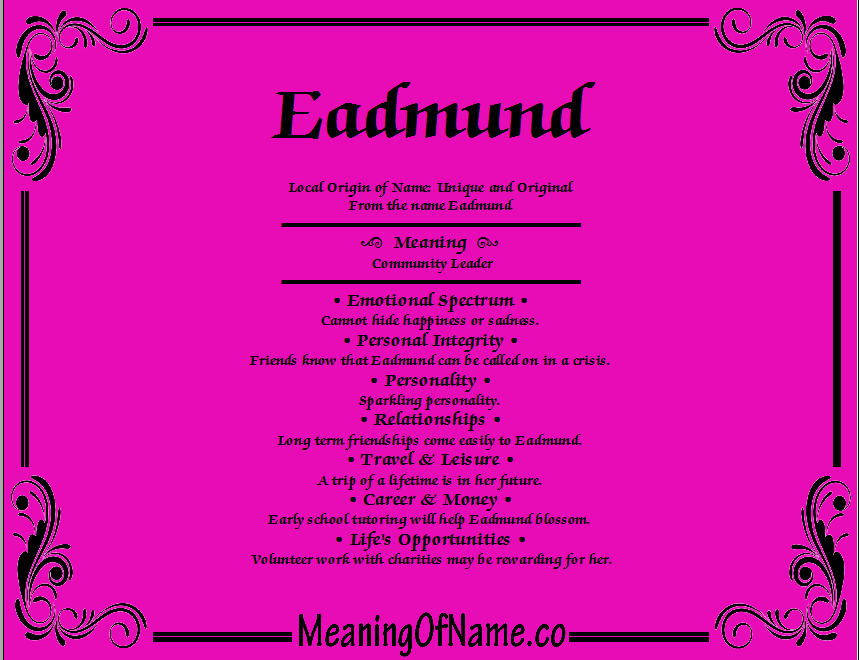 Meaning of Name Eadmund