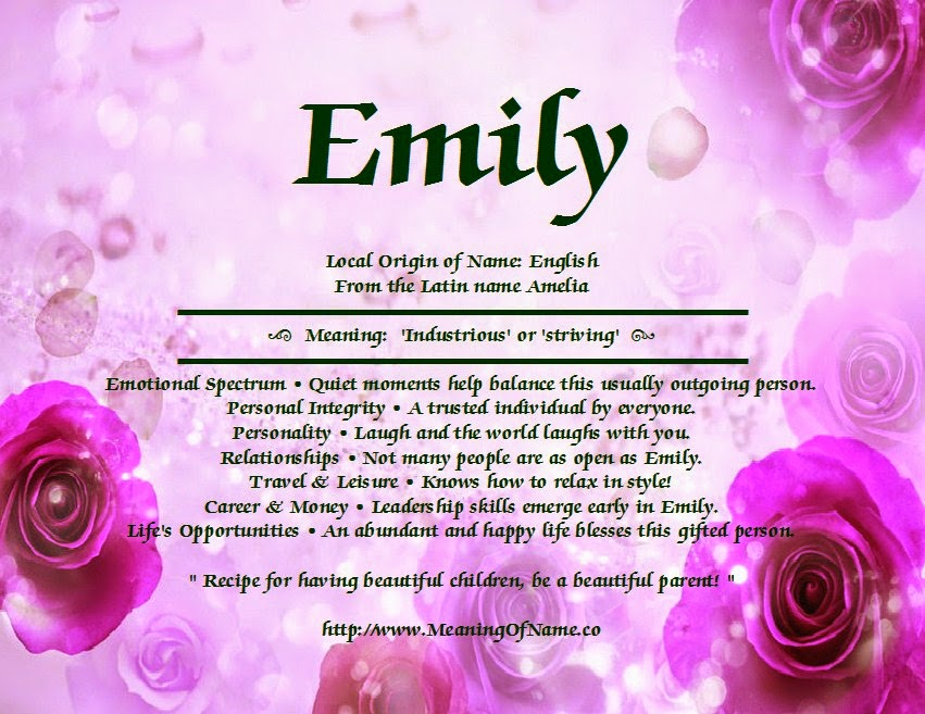 Meaning Of Name Emily