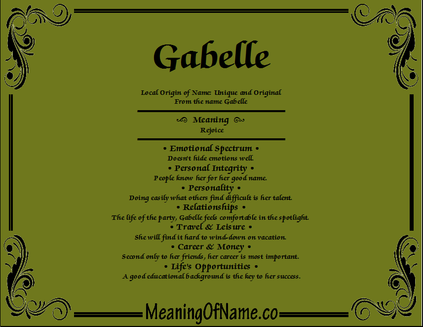 Meaning of Name Gabelle