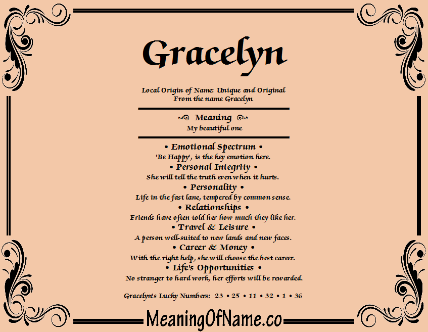 Meaning of Name Gracelyn